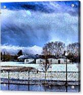 Bhs Softball Field Winter 2012 Full Acrylic Print