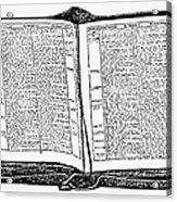 Bible, 19th Century Acrylic Print