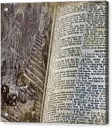 Bible Pages Acrylic Print