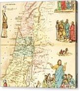 Biblical Map Palestine Acrylic Print