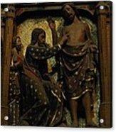 Biblical Scene At Notre Dame Paris Acrylic Print