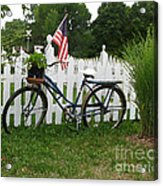 Bicycle And Picket Fence Acrylic Print