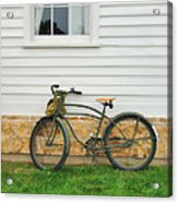 Bicycle By House Acrylic Print