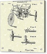 Bicycle Extension Frame 1903 Patent Art Acrylic Print