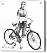 Bicycle Girl Acrylic Print