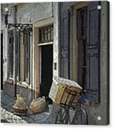 Bicycle On A Street By The Zuider Zee  Acrylic Print