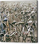 Bicycle Park In Beijing In China Acrylic Print
