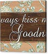 Bienvenue Kiss Acrylic Print