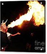 Big Axe Of Fire Acrylic Print