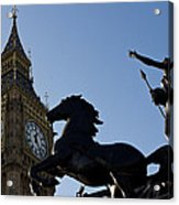 Big Ben And Boadicea Statue  Acrylic Print