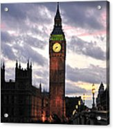 Big Ben Sunset Acrylic Print by Jim Chamberlain