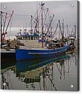 Big Blue Fishing Boat Acrylic Print
