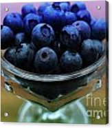 Big Bowl Of Blueberries Acrylic Print