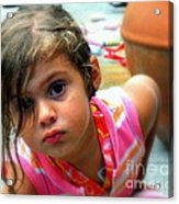Big Brown Eyes Acrylic Print