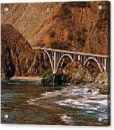 Big Creek Bridge Close Acrylic Print