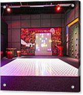 Big Electronic Gaming Mat With A Beamer Acrylic Print