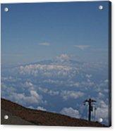 Big Island - Island Of Hawaii - View From Haleakala Maui Acrylic Print