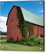 Big Red Barn On Rt 227 Acrylic Print