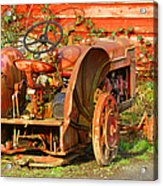 Big Red Tractor Acrylic Print