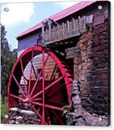 Big Red Wheel Acrylic Print
