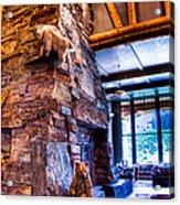 Big Sky Lodge Interior Acrylic Print