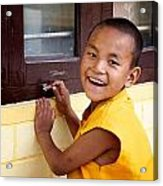 Big Smile At The Window Acrylic Print