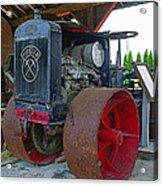 Big Steel Wheel Tractor Acrylic Print