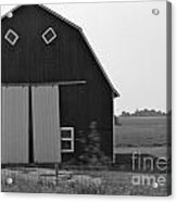 Big Tooth Barn Black And White Acrylic Print