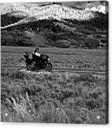 Bike Run Through Yellowstone Acrylic Print
