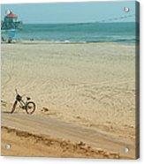 Biked To The Beach Acrylic Print