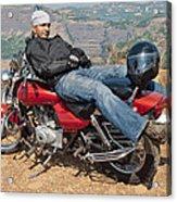 Biker Back Rest Acrylic Print