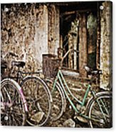 Bikes And A Window Acrylic Print