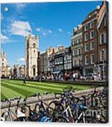 Bikes Cambridge Acrylic Print