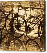 Bikes On The Canal Acrylic Print