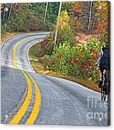 Biking In Autumn Acrylic Print