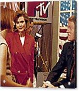 Bill Clinton, Being Interviewed Acrylic Print by Everett
