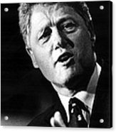 Bill Clinton Acrylic Print by Everett