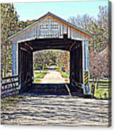 Billie Creek Village Covered Bridge Acrylic Print