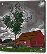 Bills Barn   Red Acrylic Print