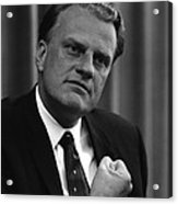 Billy Graham Was A Prominent Christian Acrylic Print by Everett