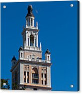Biltmore Hotel Tower And Moon Acrylic Print