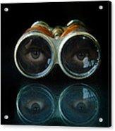 Binoculars With Eyes Looking At You Acrylic Print