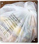 Biodegradable Plastic Bag Acrylic Print