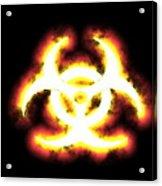 Biohazard Sign Acrylic Print