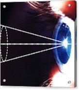 Biometric Eye Scan Acrylic Print by Pasieka