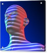 Biometric Scanning Acrylic Print by Pasieka