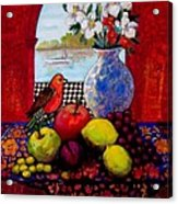 Bird And Stil Life Acrylic Print