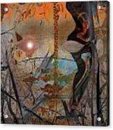 Bird Lady Acrylic Print