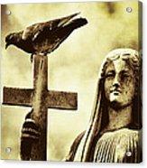 Bird On The Cross Acrylic Print