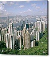 Birds Eye View Over Hong Kong Acrylic Print